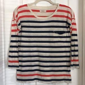 Madewell womens striped long sleeve tee shirt (&Q